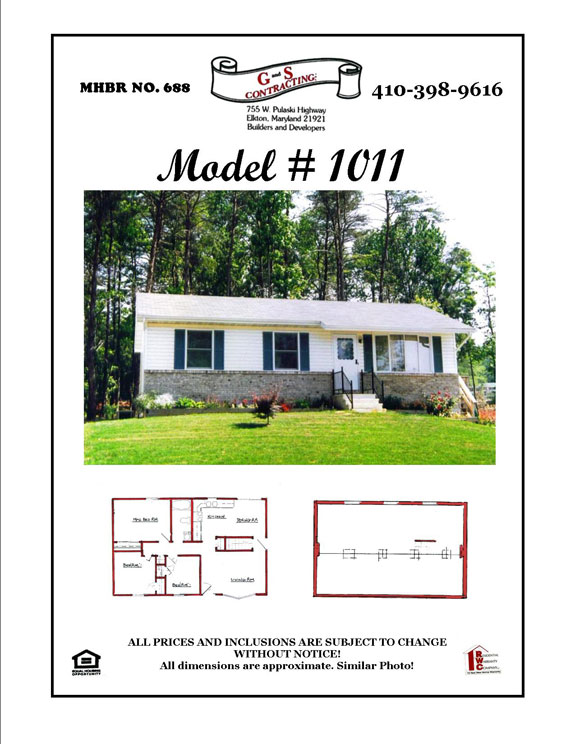 New House Builder Cecilton MD - Rancher House Model 1011