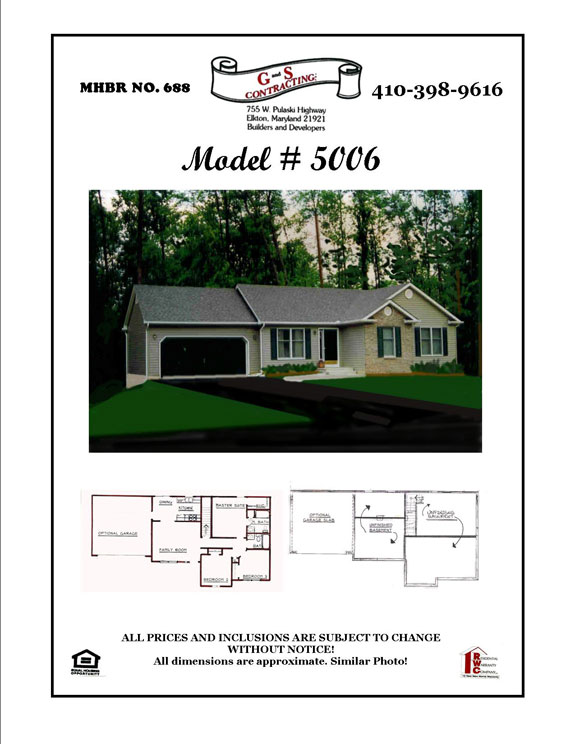 New House BuilderNortheast MD - Rancher Model 5006